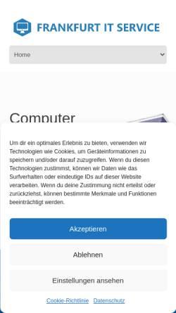 Vorschau der mobilen Webseite frankfurt-it-service.de, Frankfurt IT Service