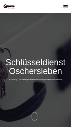 Vorschau der mobilen Webseite www.schluesseldienst-terciak.de, Schlüsseldienst Terciak