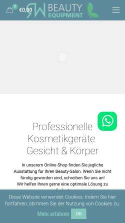 Vorschau der mobilen Webseite beautyapparate.de, RW Beauty Equipment