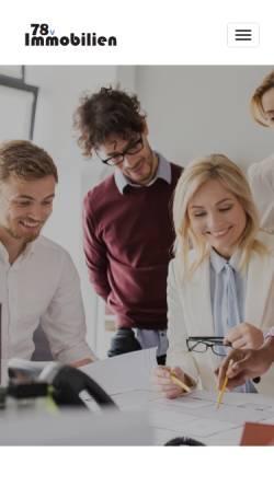 Vorschau der mobilen Webseite www.78v.de, Immobilienmakler 78v - Sukri & Senat Jusuf GbR