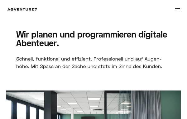 Vorschau von www.adventure7.de, Adventure7 GmbH