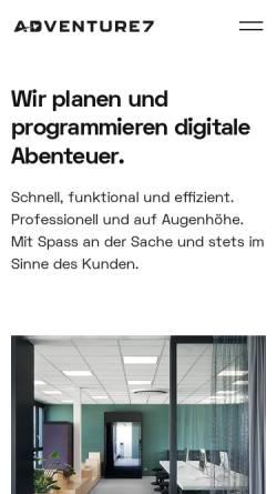 Vorschau der mobilen Webseite www.adventure7.de, Adventure7 GmbH