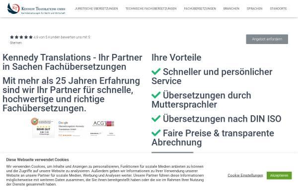 Vorschau von www.kennedy-translations.com, Kennedy Translations GmbH