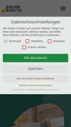 Vorschau der mobilen Webseite www.solutionmarketing.de, Solution Marketing