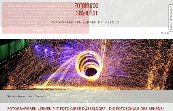 Vorschau von www.fotokurse-duesseldorf.de, ariart Fotografie
