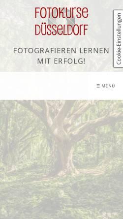 Vorschau der mobilen Webseite www.fotokurse-duesseldorf.de, ariart Fotografie