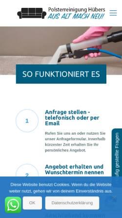 Vorschau der mobilen Webseite polster-huebers.de, Polsterreinigung Hübers