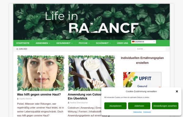 Vorschau von life-in-balance.net, Life in Balance