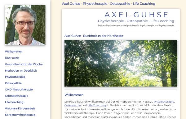 Vorschau von www.guhse-therapie.de, Axel Guhse - Physiotherapie . Osteopathie . Life Coaching
