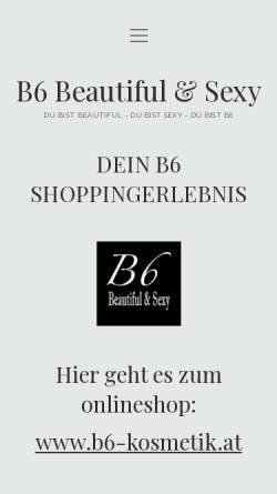 Vorschau der mobilen Webseite www.b6-kosmetik.at, B6 Kosmetik