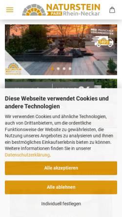 Vorschau der mobilen Webseite www.steineshop24.de, Steineshop24.de