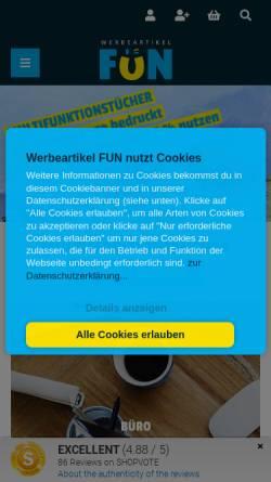 Vorschau der mobilen Webseite www.werbeartikel.fun, MaRe Handels GmbH