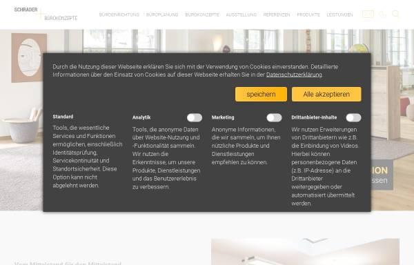Vorschau von www.schrader-buero.de, Schrader Bürokonzepte