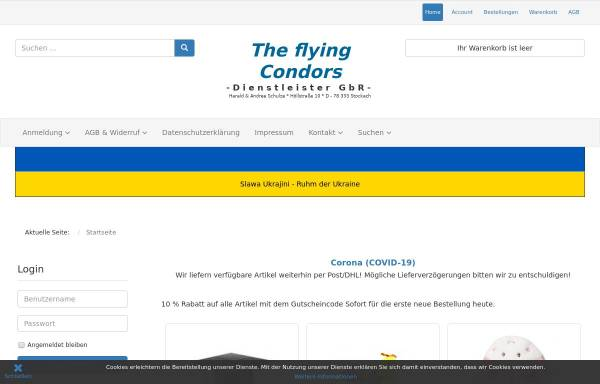 Vorschau von shop.the-flying-condors.de, The flying Condors GbR