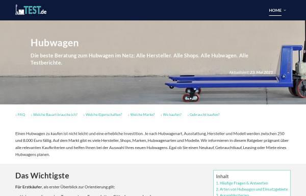 Vorschau von www.hubwagentest.de, Hubwagentest.de