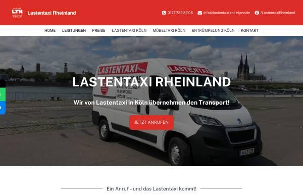 Vorschau von lastentaxi-rheinland.de, Lastentaxi Rheinland, Aytac Elkatmis