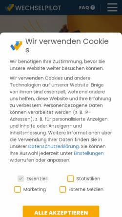 Vorschau der mobilen Webseite www.wechselpilot.com, Wechselpilot.com