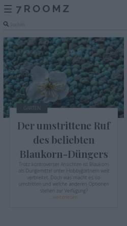 Vorschau der mobilen Webseite www.7roomz.de, SALESBUTLERS UG