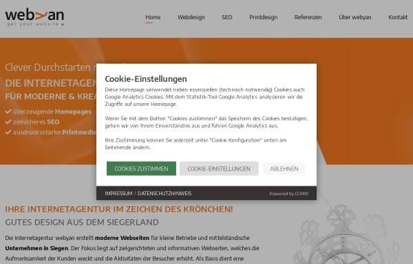Vorschau von webyan.de, webyan