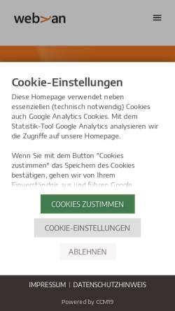 Vorschau der mobilen Webseite webyan.de, webyan