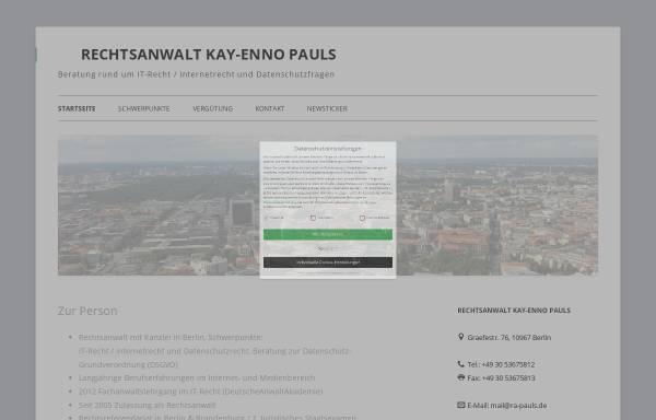Vorschau von it-internetrecht.de, Rechtsanwalt Kay-Enno Pauls