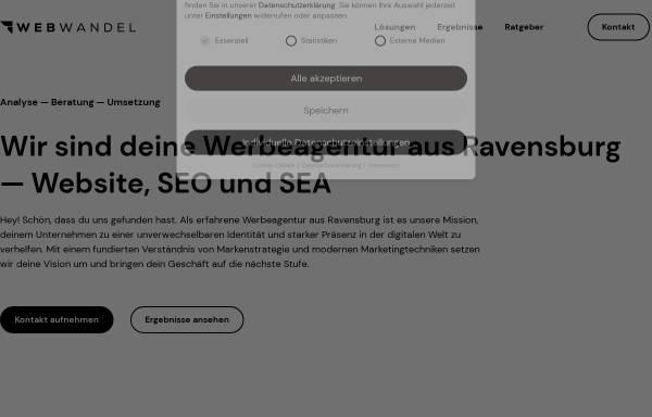 Vorschau von webwandel.de, Internetagentur Webwandel