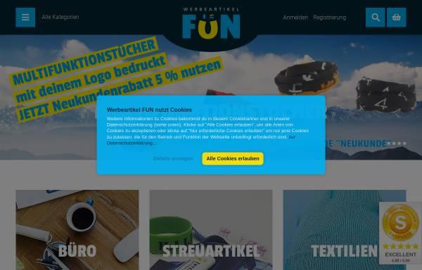 Vorschau von www.werbeartikel.fun, Werbeartikel FUN - MaRe Handels GmbH