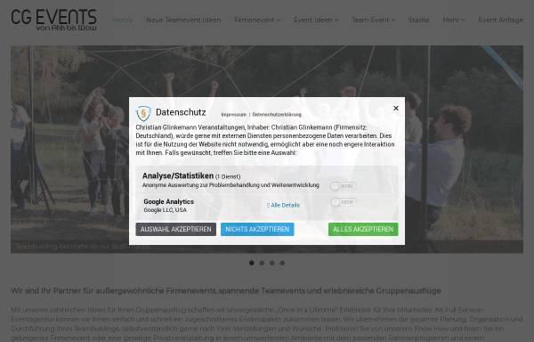 Vorschau von www.cg-events.de, CG Events