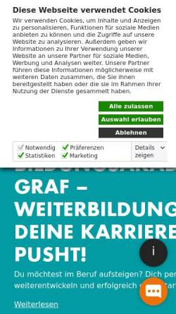 Vorschau der mobilen Webseite www.bildungsakademie-graf.de, BildungsAkademie Graf