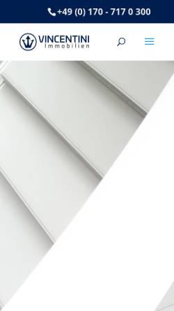 Vorschau der mobilen Webseite vincentini.de, VINCENTINI Immobilien