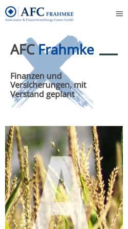 Vorschau der mobilen Webseite www.afc-frahmke.de, AFC Frahmke