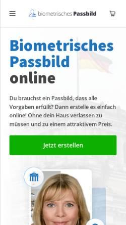 Vorschau der mobilen Webseite www.biometrisches-passbild.net, Biometrisches-Passbild.net