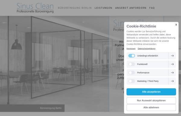 Vorschau von www.sinus-clean.de, Sinus Clean