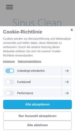Vorschau der mobilen Webseite www.sinus-clean.de, Sinus Clean
