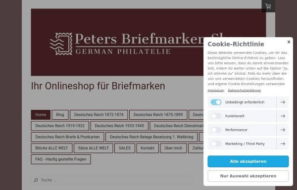 Vorschau von www.peters-briefmarken-shop.de, Peters Briefmarken Shop