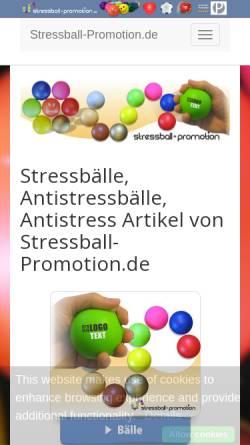Vorschau der mobilen Webseite www.stressball-promotion.de, Stressball Promotion