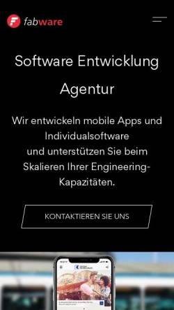 Vorschau der mobilen Webseite www.fabware.ch, Fabware GmbH
