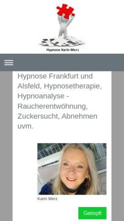 Vorschau der mobilen Webseite www.hypnosepraxis-karin-merz.de, Karin Merz Hypnosepraxis