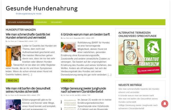 Vorschau von www.gesunde-hundenahrung.de, Gesunde Hundenahrung