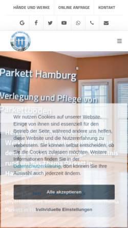 Vorschau der mobilen Webseite www.parkett-witt.de, Hände und Werke Böden aus Holz
