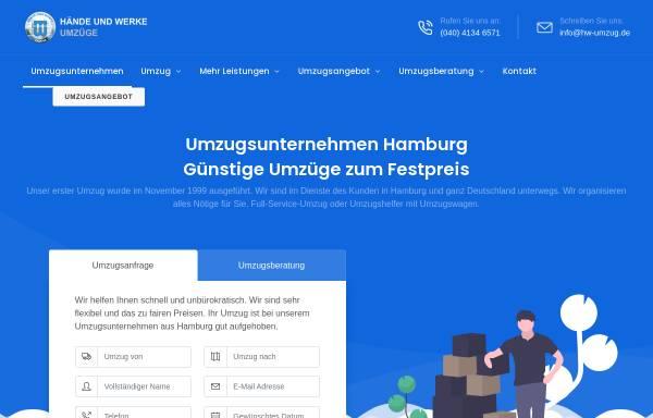 Vorschau von www.hw-umzug.de, Hände und Werke