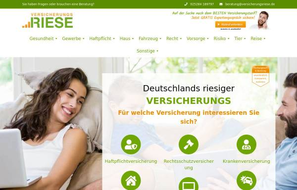 Vorschau von www.versicherungsriese.de, Versicherungsriese