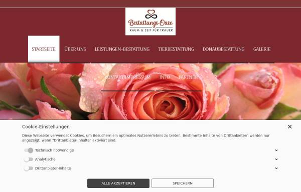 Vorschau von www.bestattungs-oase.de, Bestattungs-Oase Karin Stockhusen