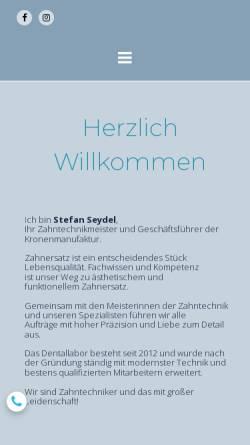 Vorschau der mobilen Webseite www.kronenmanufaktur.de, Die Kronenmanufaktur