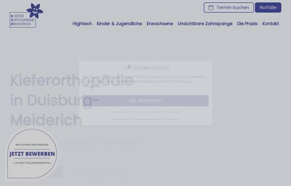 Vorschau von kieferorthopaedie-meiderich.de, Kieferorthopädie Meiderich