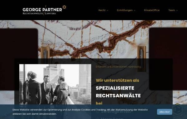 Vorschau von www.georgepartner.de, Kanzlei George & Partner mbB Rechtsanwälte