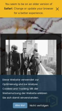 Vorschau der mobilen Webseite www.georgepartner.de, Kanzlei George & Partner mbB Rechtsanwälte