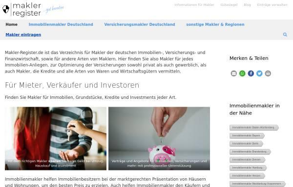 Vorschau von www.makler-register.de, Makler-Register