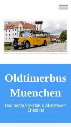 Vorschau der mobilen Webseite oldtimerbus-muenchen.de, Oldtimerbus mieten