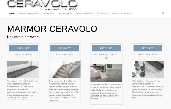 Vorschau von ceravolo.de, Marmor Ceravolo